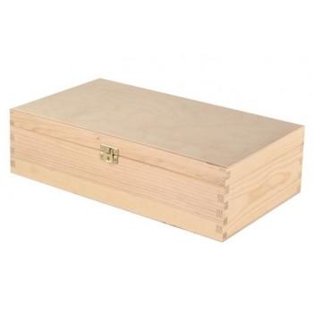 Dárkový dřevěný box na 2 láhve
