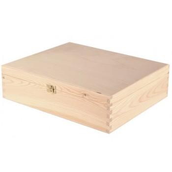 Dárkový dřevěný box na 3 láhve