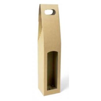 Papírová krabice na 1 láhev vína Winebox natura