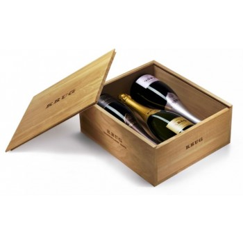 Dárkový dřevěný box na 3 láhve - KRUG