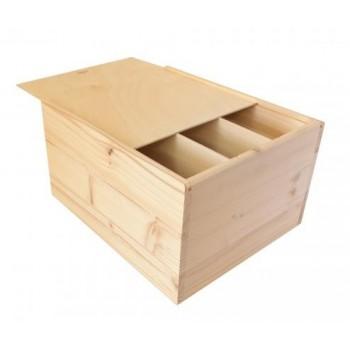 Dárkový dřevěný box na 6 lahví