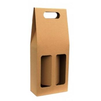 Dárková odnosná krabice na 2 láhev vína