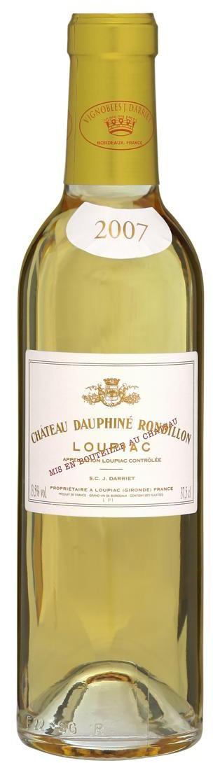 Chateau Dauphine Rondillon 2013 - Loupiac, 0,375 l