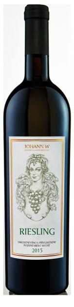 Riesling 2015, pozdní sběr, suché, Vinařství Johann W - Třebívlice
