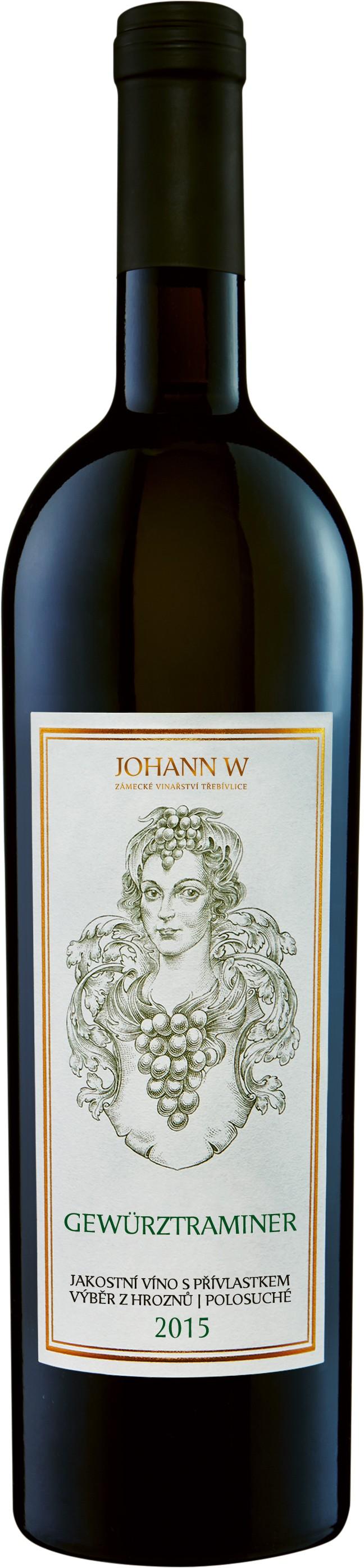 Gewurztraminer 2015, výběr z hroznů, polosuché, Vinařství Johann W - Třebívlice