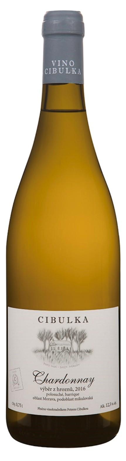 Chardonnay 2016, výběr z hroznů, Vinařství Cibulka