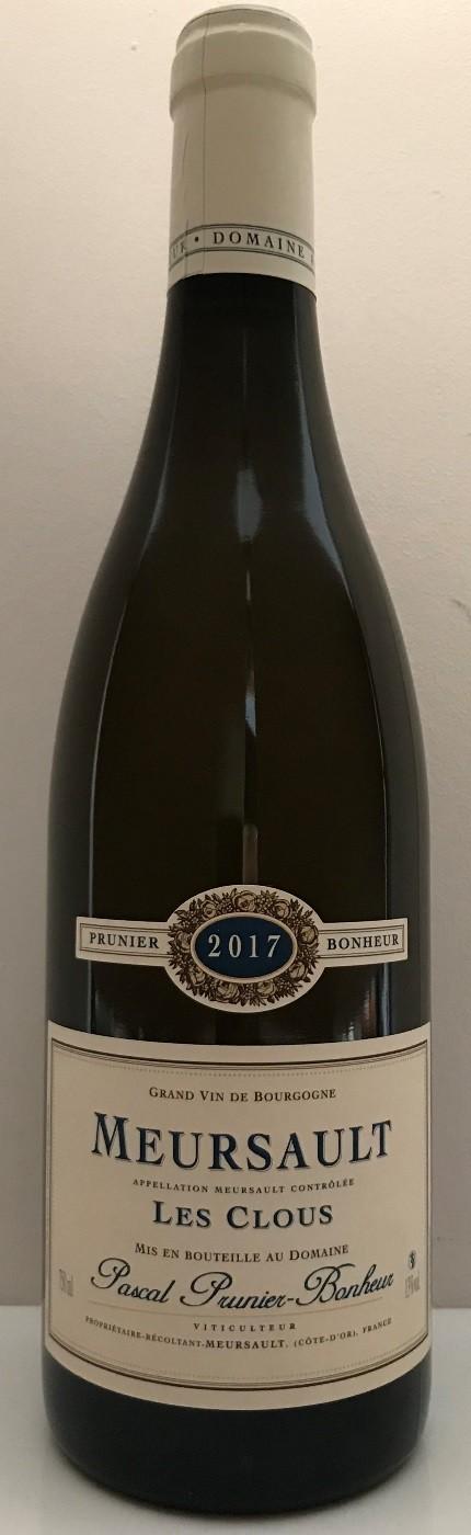"""Meursault ,,Les Clous"""" blanc 2017, Domaine Pascal Prunier - Bonheur"""