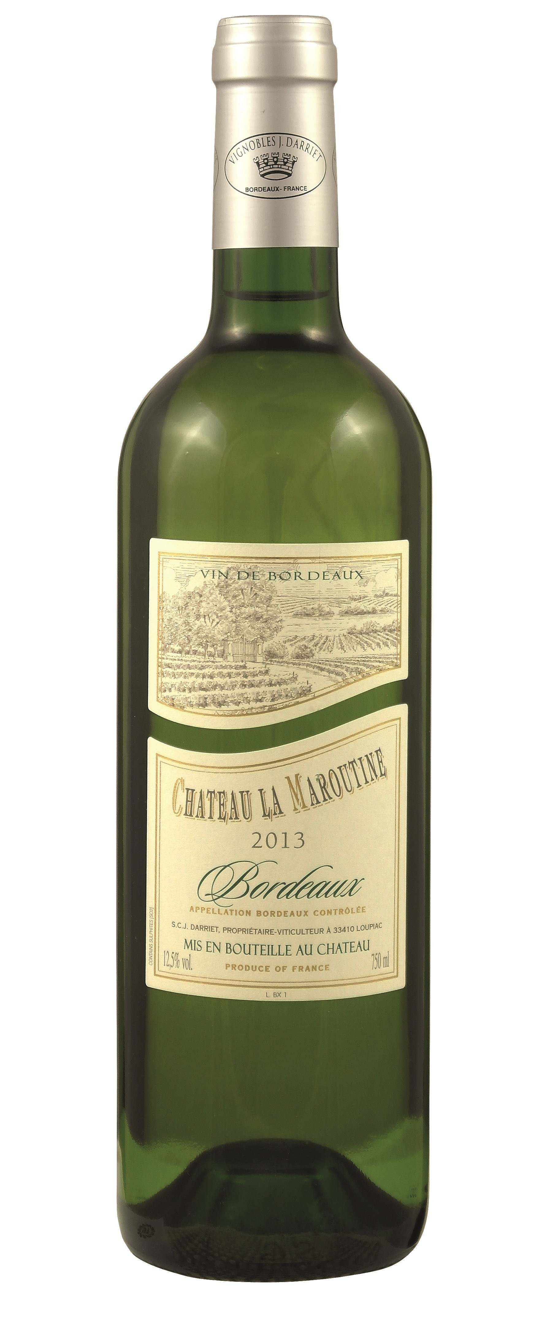 Chateau la Maroutine white 2018, 0,375 l, Bordeaux AOC