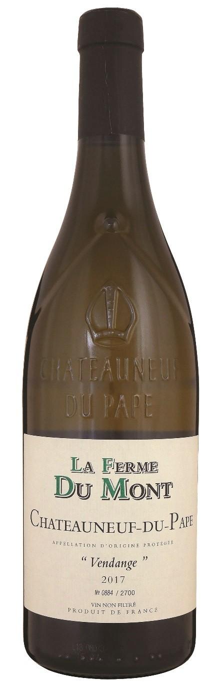 """Chateauneuf du Pape blanc 2017  """"Vendange"""", La Ferme du Mont"""