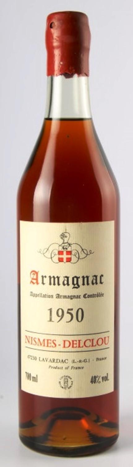 Armagnac Nismes Delclou 1961, 0,7l, 40%