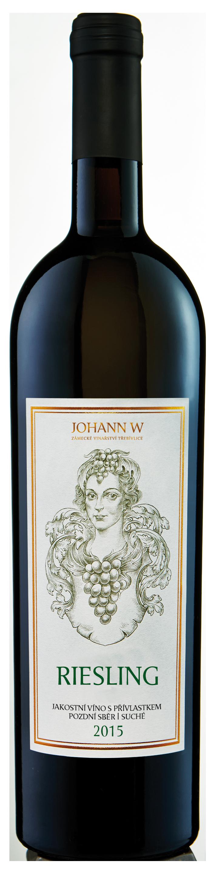 Riesling 2016, pozdní sběr, suché, Vinařství Johann W - Třebívlice
