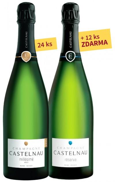 24x Champagne Castelnau BDB Millésime 2006 +12x ZDARMA Champagne Castelnau Brut Reserve NV