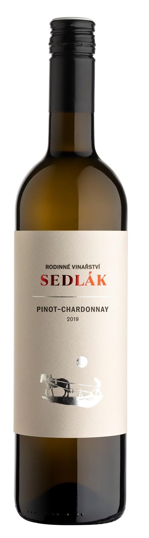 Pinot Chardonnay 2018, zemské, suché, Vinařství Sedlák