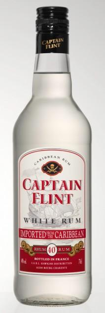 Rum Captain Flint, white, Caribbean 40%, 0,7l