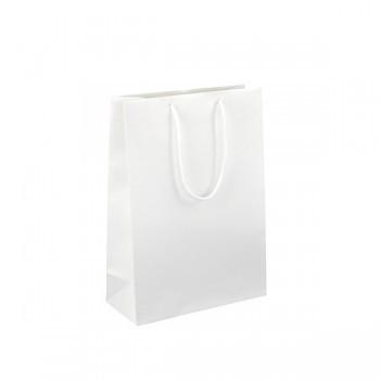 Dárková taška bílá Monza - bílá, lesk