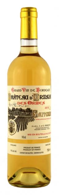 Chateau d´Armajan des Ormes 2016, Sauternes