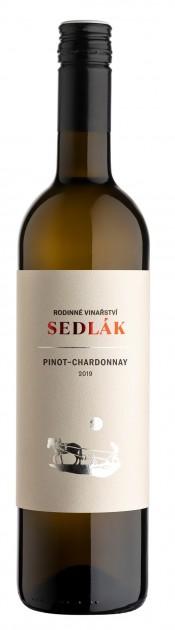 Pinot Chardonnay 2020, zemské, suché, Vinařství Sedlák