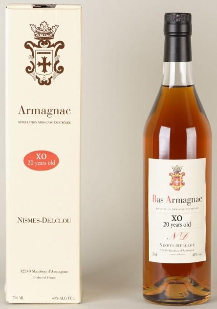 Bas - Armagnac XO, 20y Nismes Delclou, 0,7l, 40%