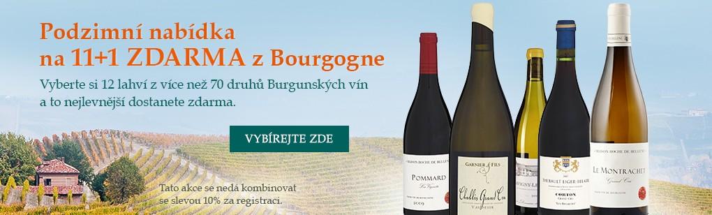 Podzimní nabídka na 11+1 zdarma z Bourgogne